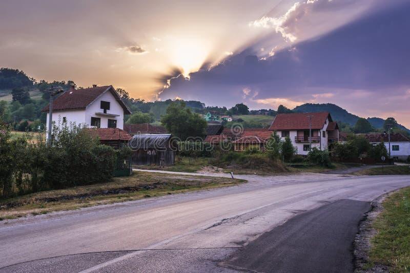 Pueblo de Kotraza en Serbia foto de archivo libre de regalías