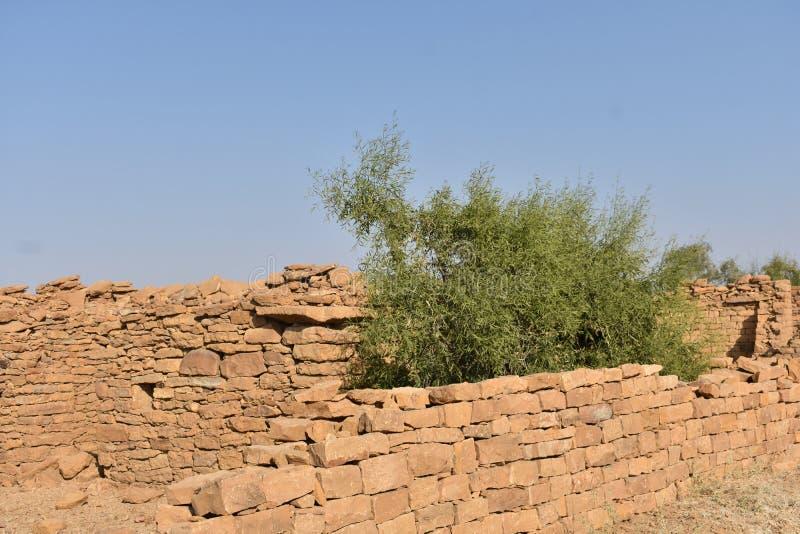 Pueblo de Kuldhara fotografía de archivo