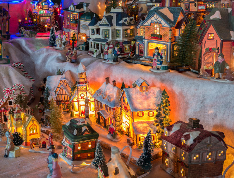 Pueblo de la Navidad imágenes de archivo libres de regalías