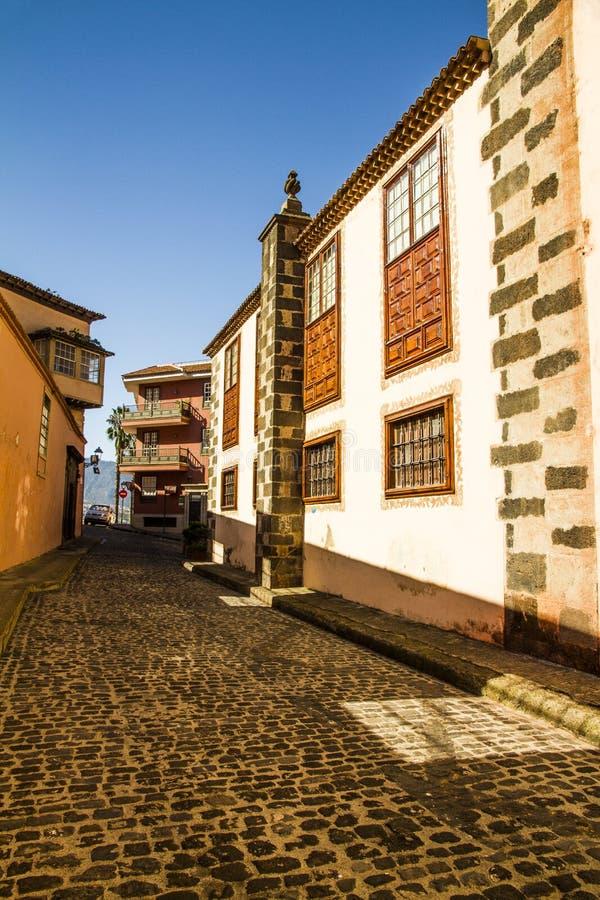 Pueblo de la Orotava. fotos de archivo