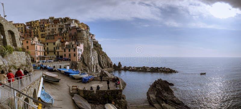 Pueblo de la yegua del al de Monterosso, Cinque Terre, Italia fotografía de archivo
