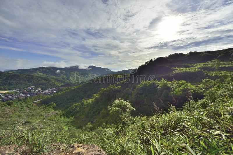 pueblo de las E-pinzas en la provincia de Kanjana Buri en el oeste de Tailandia fotos de archivo libres de regalías