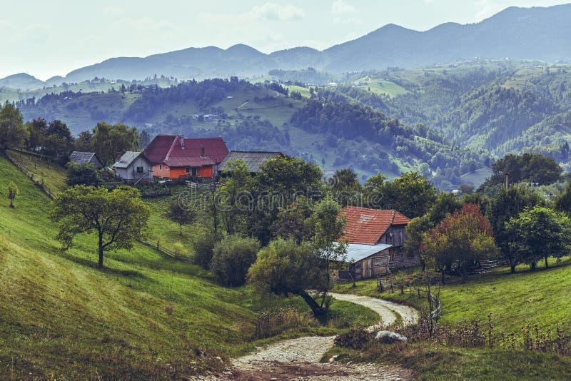 Pueblo de Magura, condado de Brasov, Rumania fotos de archivo libres de regalías