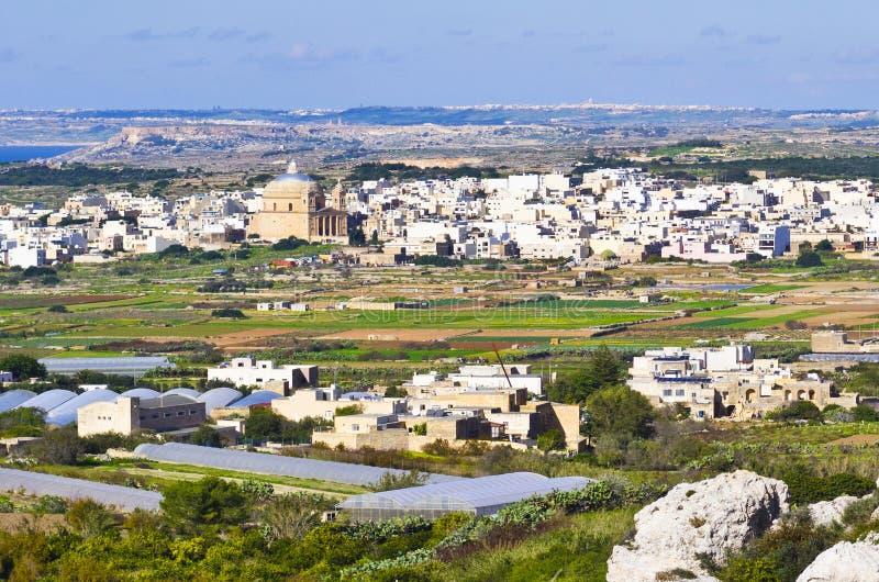 Pueblo de Mgarr, Malta imagen de archivo libre de regalías