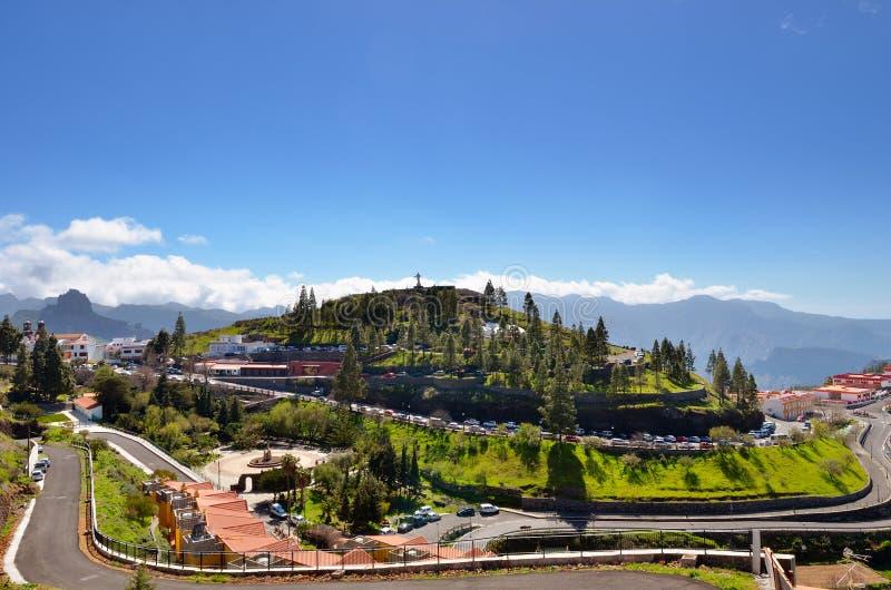 Pueblo de montaña Artenara imágenes de archivo libres de regalías
