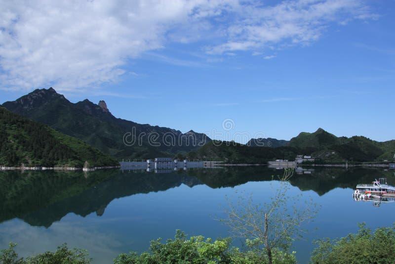 Pueblo de montaña del ling de Wu imagen de archivo