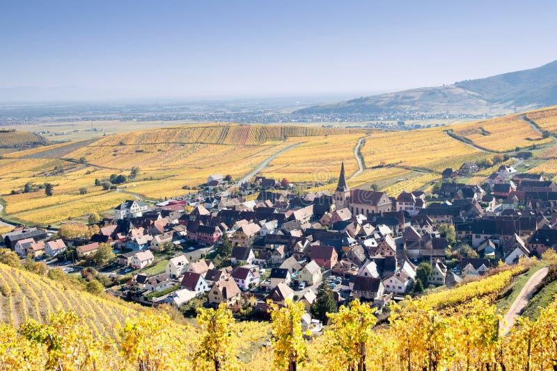 Pueblo de Niedermorschwihr imagen de archivo libre de regalías