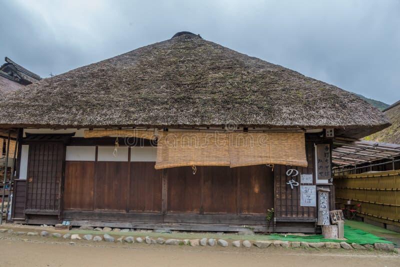 Pueblo de Ouchijuku en Japón foto de archivo
