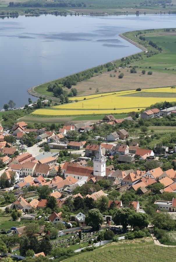 Pueblo de Pavlov en Moravia meridional foto de archivo
