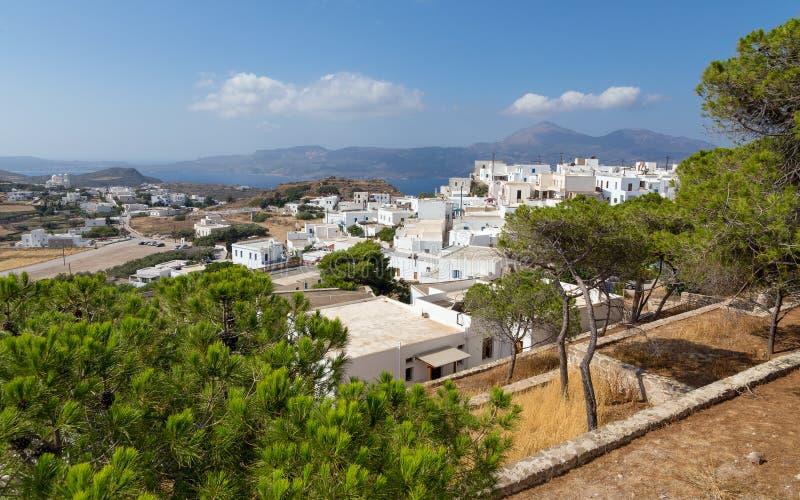 Pueblo de Plaka, Milos isla, Cícladas, Grecia foto de archivo
