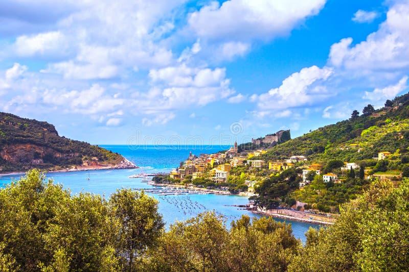 Pueblo de Portovenere en el mar Terre de Cinque, Ligury Italia imágenes de archivo libres de regalías