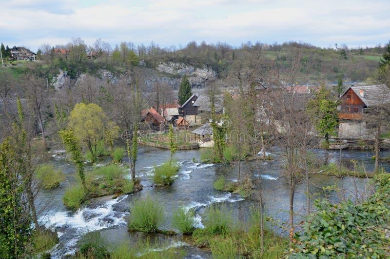 Pueblo de Rastoke, Croacia fotos de archivo