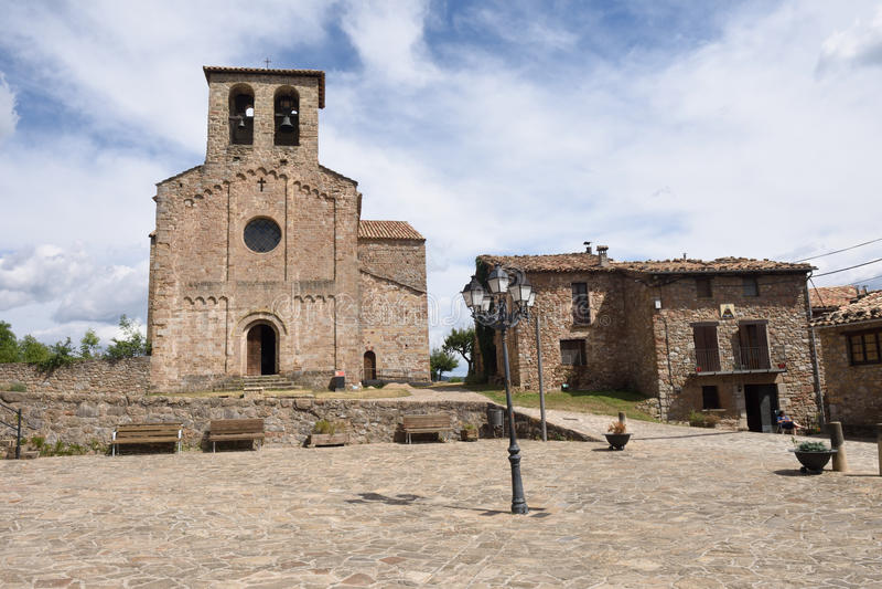 Pueblo de Sant Jaume de Frontenya, imagenes de archivo