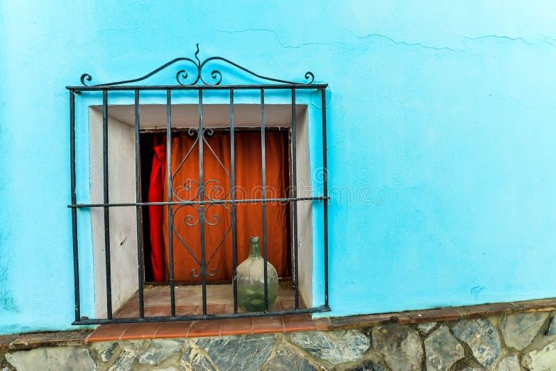 Pueblo de Smurf - Juzcar - Andalucía, España imagen de archivo