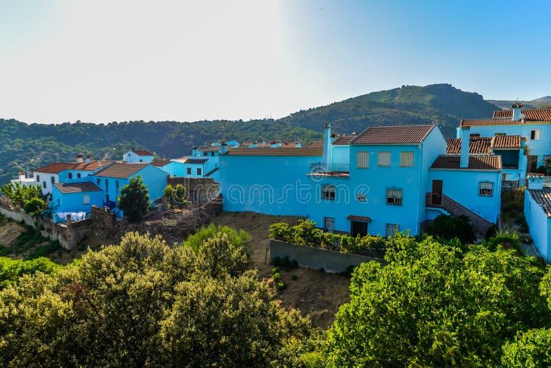 Pueblo de Smurf - Juzcar - Andalucía, España fotografía de archivo