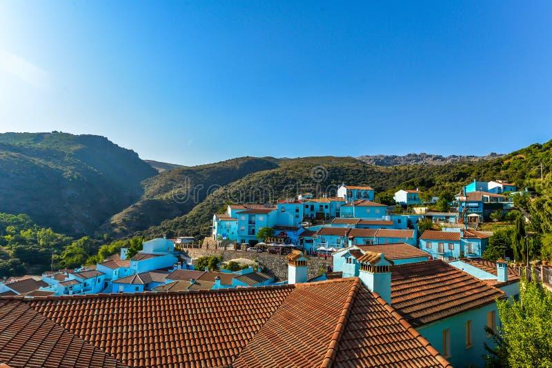 Pueblo de Smurf - Juzcar - Andalucía, España fotos de archivo libres de regalías
