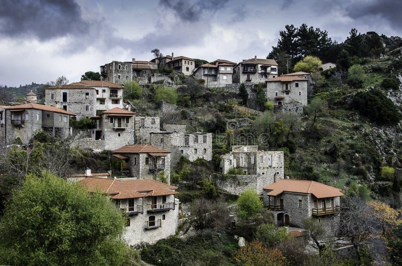 Pueblo de Stemnitsa, Peloponeso Grecia imagenes de archivo