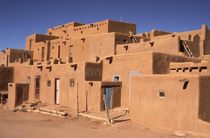 Pueblo de Taos, Taos Mexique images stock
