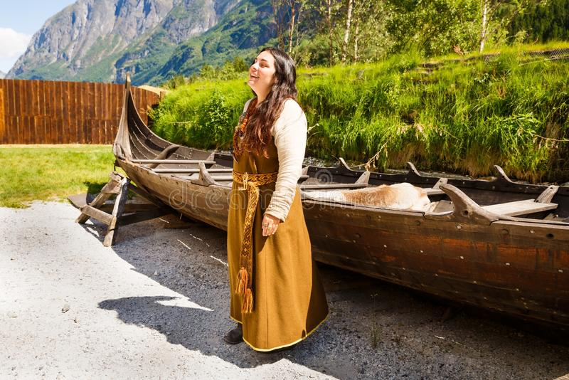 Pueblo de Viking en Noruega fotografía de archivo