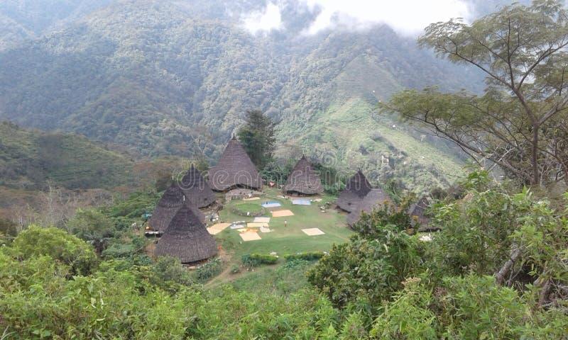 Pueblo de Wae Rebo imágenes de archivo libres de regalías