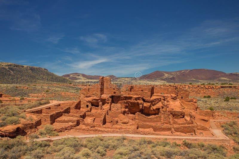 Pueblo de Wupatki au monument national de Wupatki, Arizona photographie stock