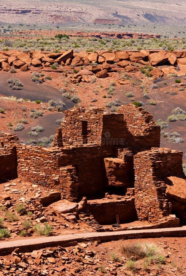 Pueblo de Wupatki, monument national de Wupatki photos stock