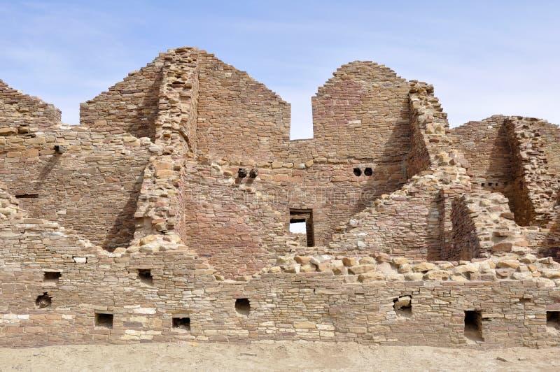Pueblo del Arroyo ruins, Chaco Canyon, New Mexico (USA). Pueblo del Arroyo ruins in Chaco Canyon, New Mexico (USA royalty free stock photo