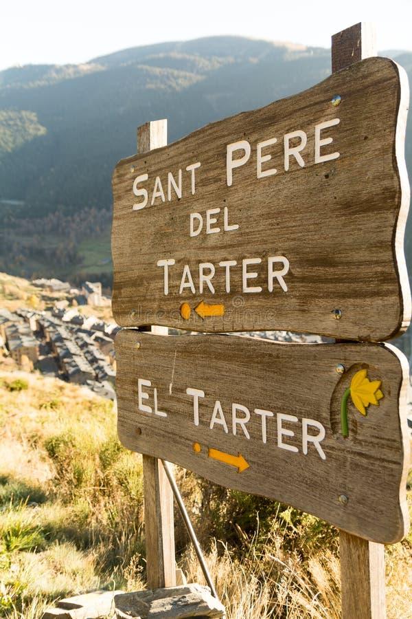 Pueblo del Gr Scherpere Engelse Canillo, Andorra Otoño stock afbeelding
