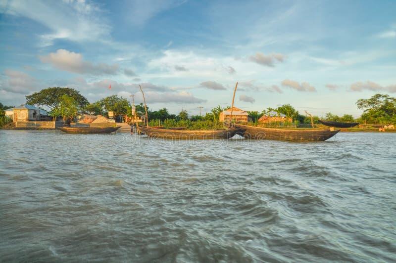 Pueblo en Bangladesh imagen de archivo libre de regalías