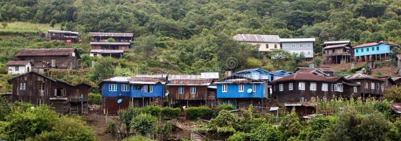 Pueblo en Chin State, Myanmar imagen de archivo libre de regalías