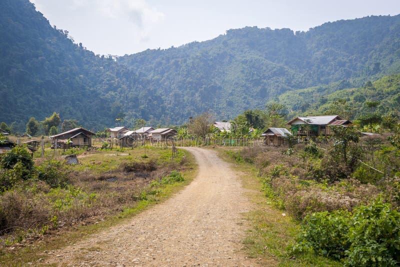 Pueblo en Laos foto de archivo libre de regalías