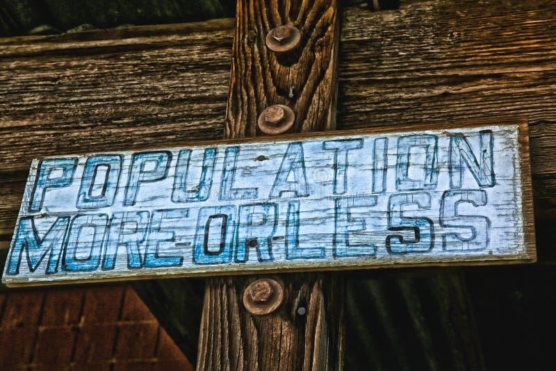 Pueblo fantasma de Ballarat de la población de la muestra imagen de archivo