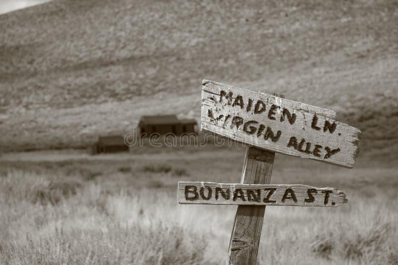 Pueblo fantasma de Bodie foto de archivo