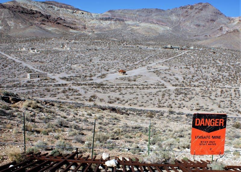 Pueblo fantasma de Nevada fotografía de archivo libre de regalías