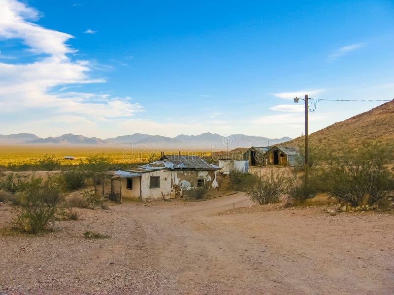 Pueblo fantasma: Death Valley, los E.E.U.U. fotografía de archivo libre de regalías