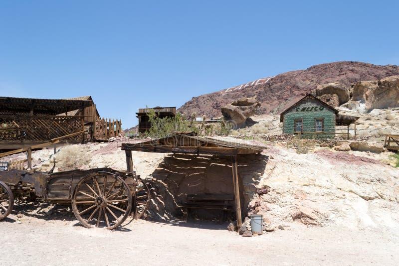 Pueblo fantasma del calicó, California imagen de archivo