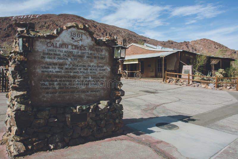 Pueblo fantasma del calicó en California, Mojave imagen de archivo libre de regalías