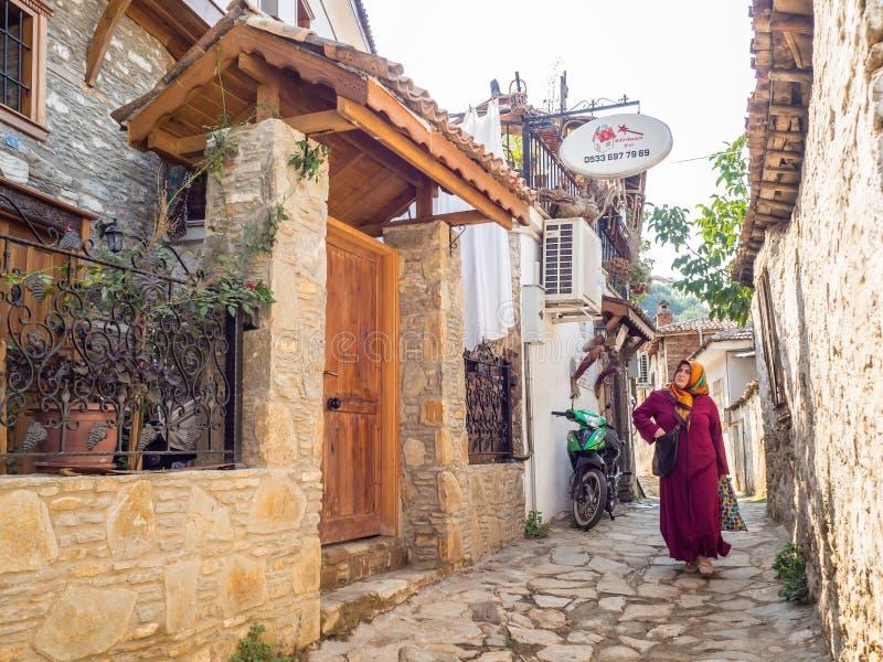 Pueblo griego de Sirince en Turquía foto de archivo libre de regalías