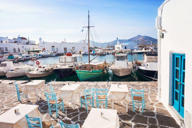 Pueblo hermoso de Naousa, isla de Paros, Cícladas, Grecia imagen de archivo libre de regalías