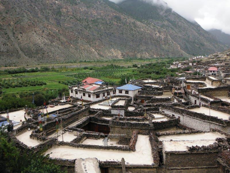 Pueblo Himalayan auténtico Marpha foto de archivo