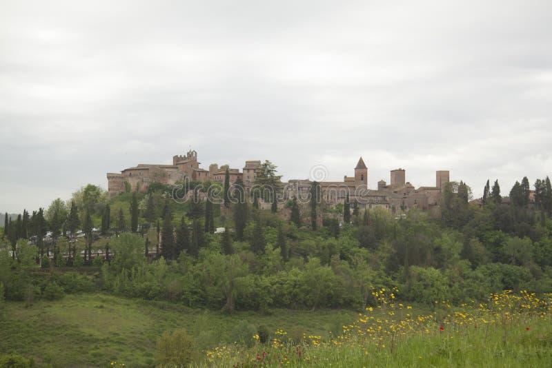 Pueblo hist?rico de Certaldo Florence Tuscany Italy fotografía de archivo libre de regalías