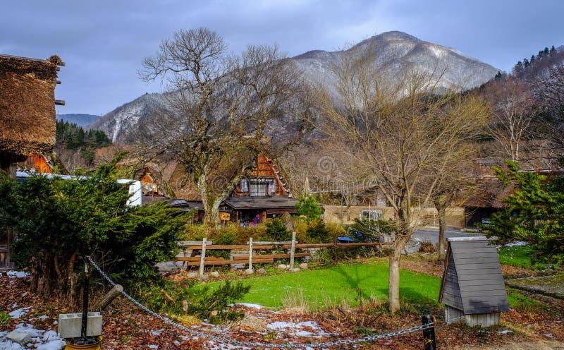 Pueblo histórico de Shirakawago en Gifu, Japón imagen de archivo