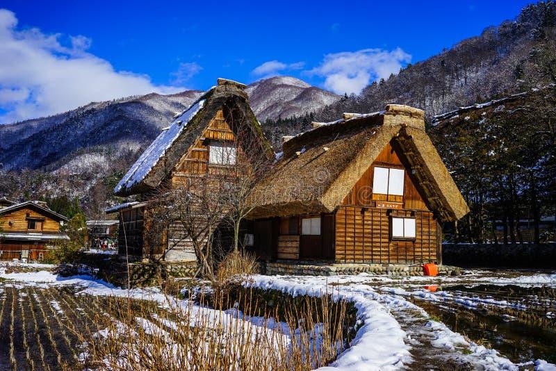 Pueblo histórico de Shirakawago en Gifu, Japón imagenes de archivo