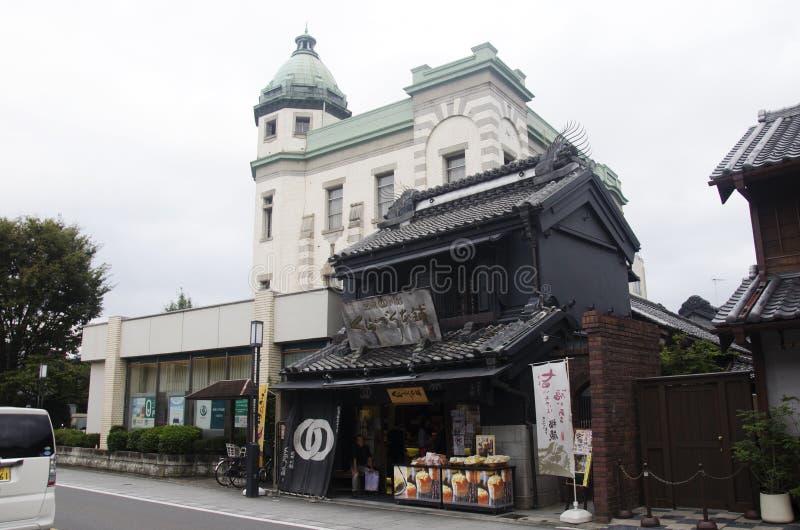 Pueblo japonés y souv que camina y que hace compras del viajero del extranjero imagen de archivo libre de regalías