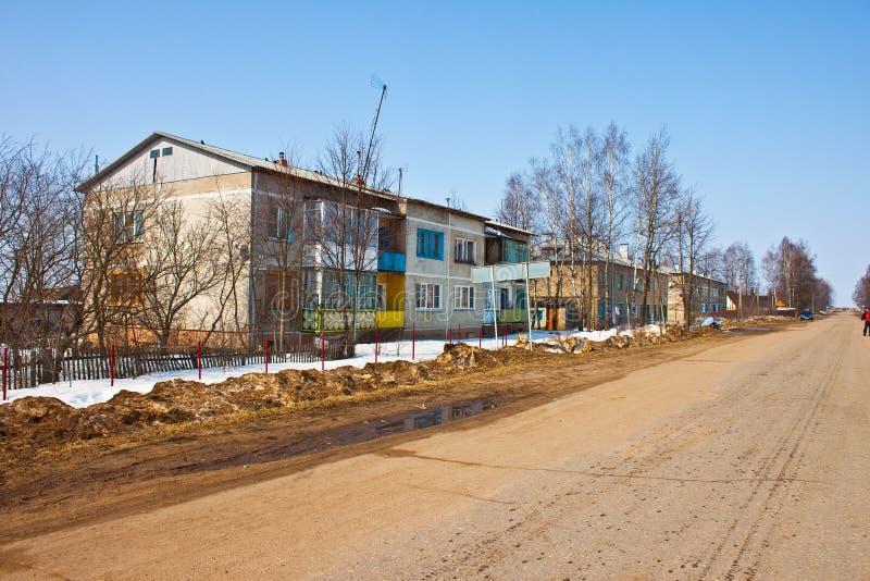 Pueblo Klushino de Rusian imagen de archivo