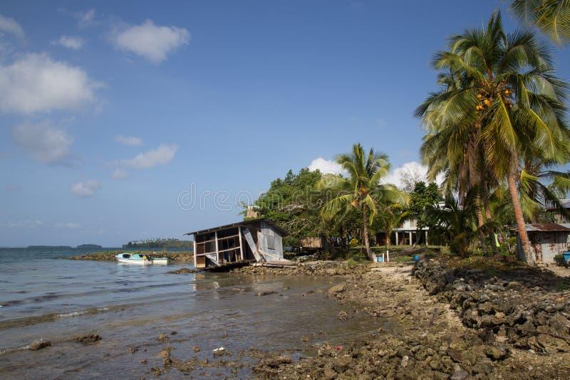 Pueblo local en Solomon Islands fotos de archivo libres de regalías