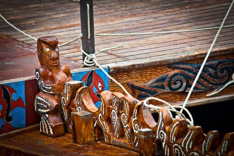Pueblo maorí imagen de archivo