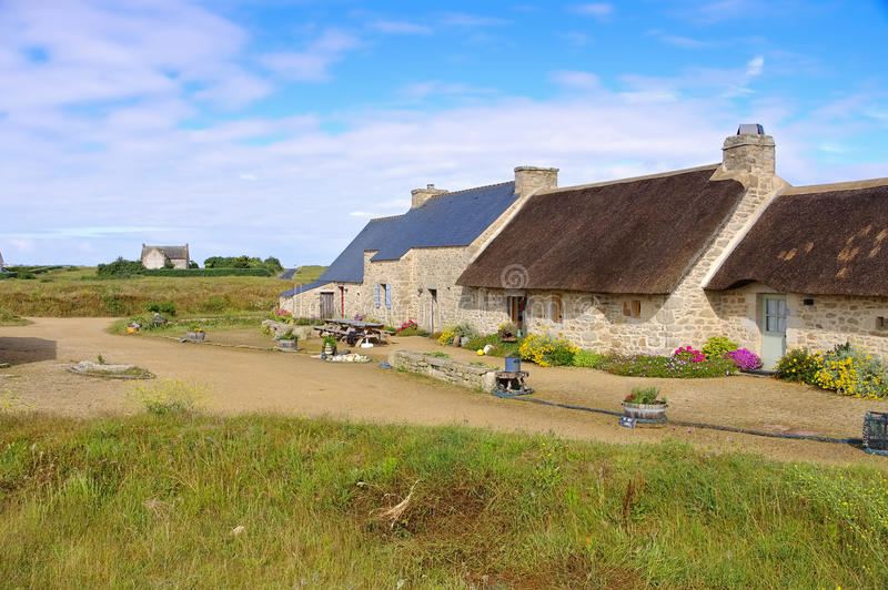 Pueblo Meneham en Finistere en Bretaña imágenes de archivo libres de regalías
