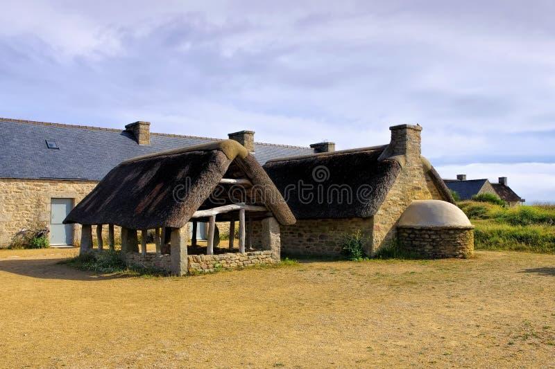 Pueblo Meneham en Finistere en Bretaña fotografía de archivo libre de regalías