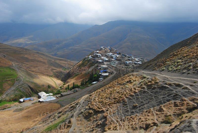 Pueblo montañoso de Xinaliq en Azerbaijan fotografía de archivo libre de regalías